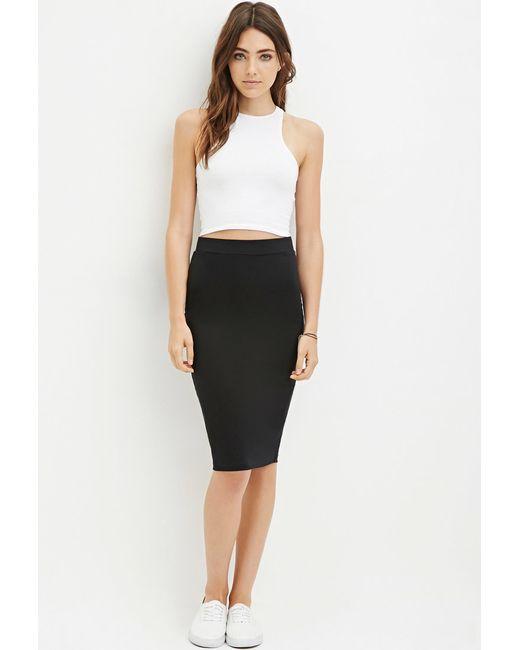 Forever 21 | Black Heathered Pencil Skirt | Lyst