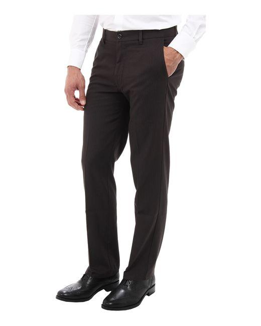 Dockers Signature Khaki D1 Slim Fit Flat Front In Black