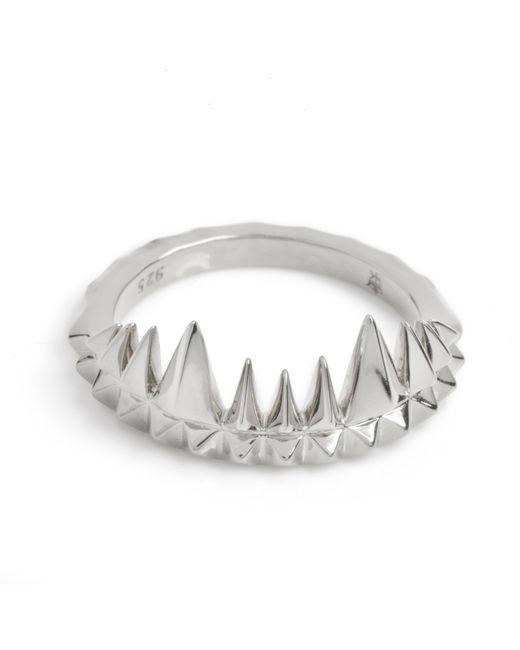 Kasun | Metallic Crocodile Bite Ring Silver | Lyst