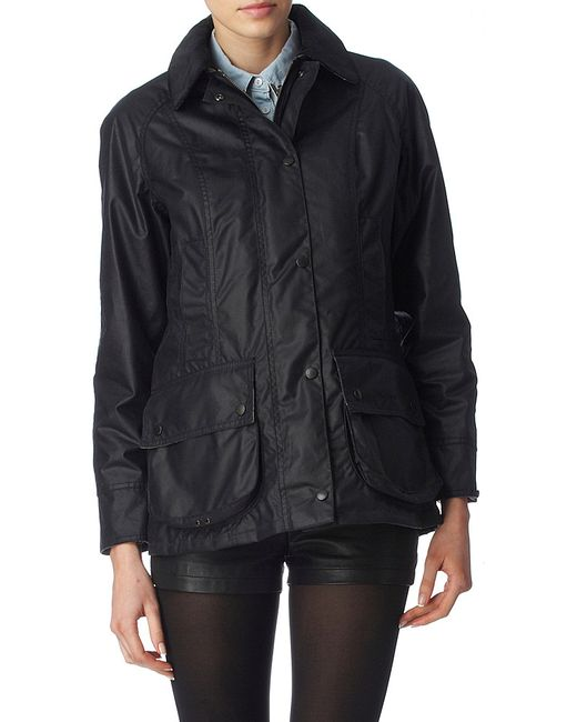 Barbour   Blue Classic Beadnell Waxed Jacket   Lyst