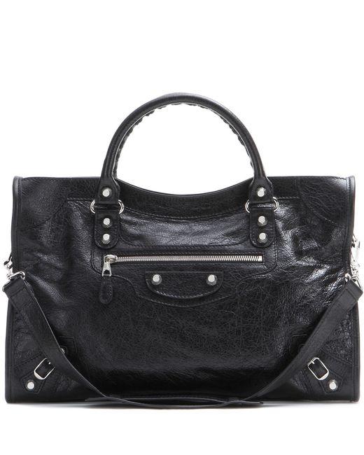 Balenciaga | Black Giant 12 City Leather Tote | Lyst