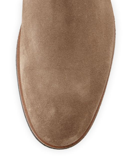 vince s suede chelsea boot in brown for lyst