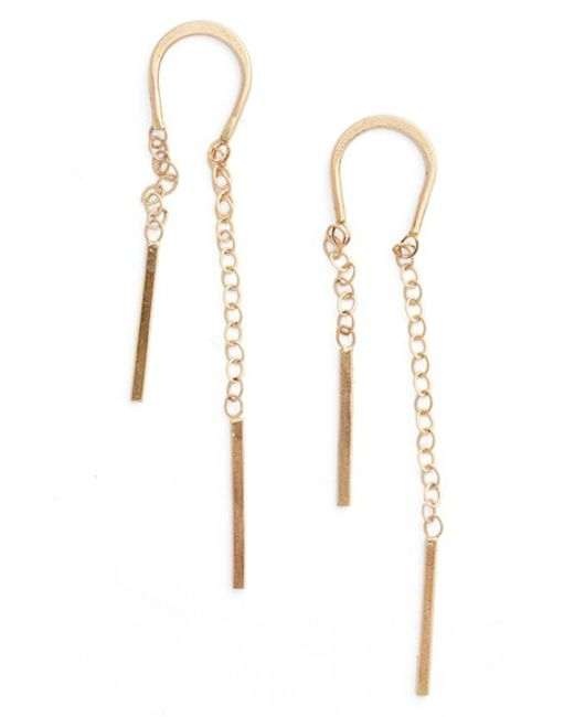 Melissa Joy Manning | Metallic Gold Threader Earrings | Lyst