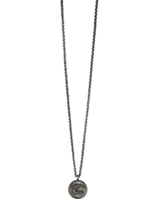 Gucci Sterling Silver Trademark Necklace