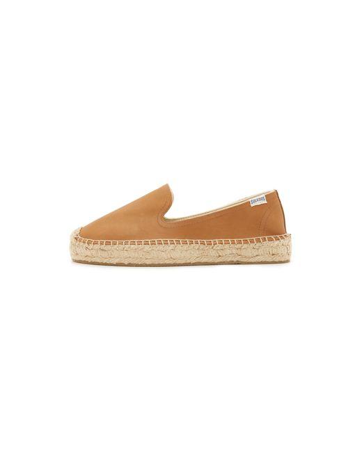 Soludos | Brown Platform Leather Espadrilles | Lyst