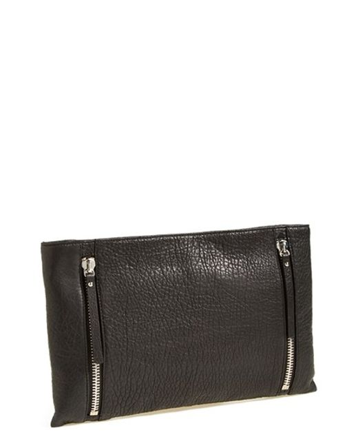Vince Camuto | Black 'Baily' Calf Hair & Leather Clutch | Lyst