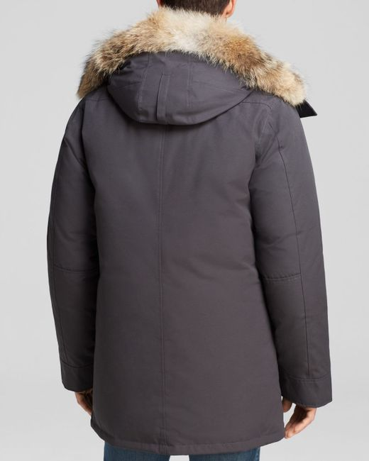 Canada Goose | Gray Chateau Parka With Fur Hood for Men | Lyst