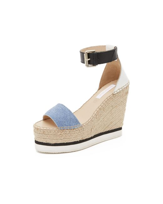 See By Chlo 233 Glyn Espadrille Wedge Sandals In Blue Lyst