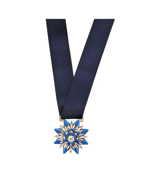 Shourouk   Blue Medal Necklace   Lyst