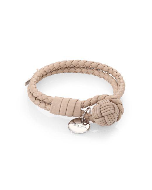Bottega Veneta | Natural Intrecciato Leather Double-row Wrap Bracelet | Lyst