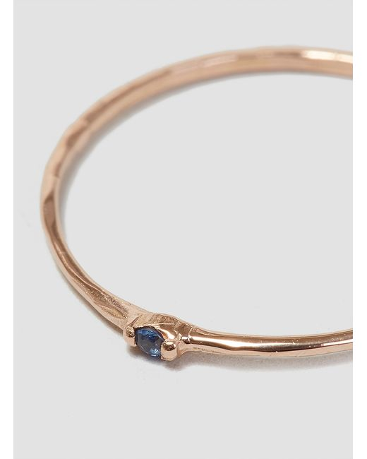 Grace Lee   Blue Sapphire Whisper Ring Rose Gold   Lyst