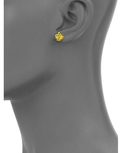 Ippolita   Metallic Rock Candy Green-gold Citrine & 18k Yellow Gold Stud Earrings   Lyst