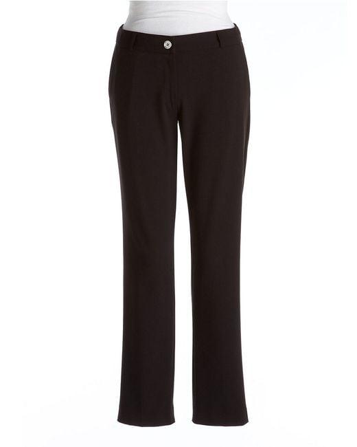 MICHAEL Michael Kors | Black Petite Flat-front Ankle Pants | Lyst