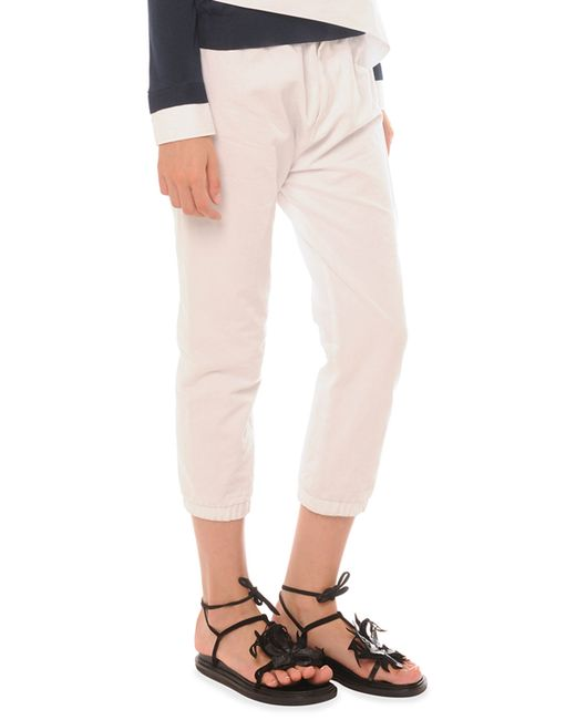 Marni Elastic Cotton-linen Ankle Pants in White - Save 65% | Lyst