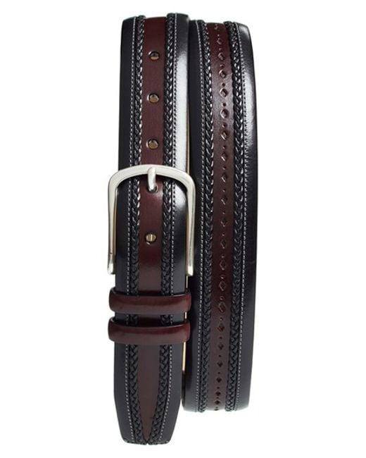 Mezlan | Gray 'diver' Leather Belt for Men | Lyst