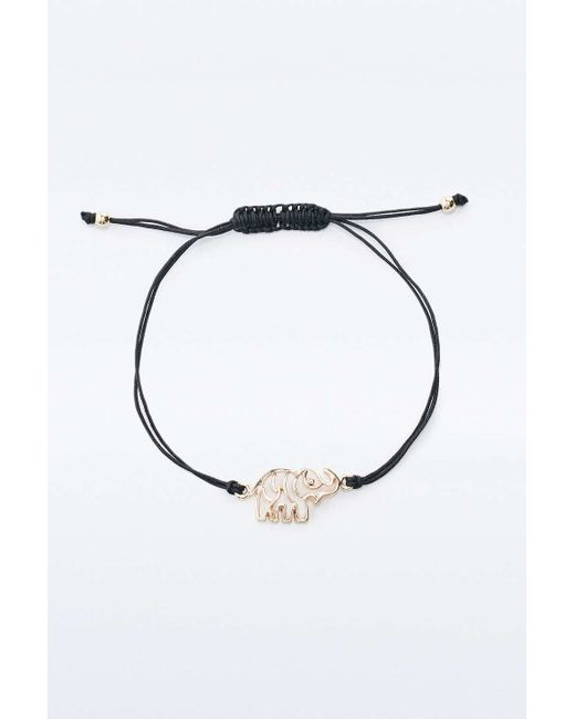 Urban Outfitters | Metallic Cut-out Gold Elephant Bracelet | Lyst