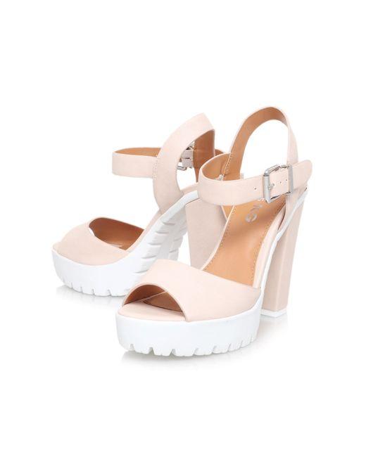 Miss Kg   Natural Panther High Heel Platform Sandals   Lyst