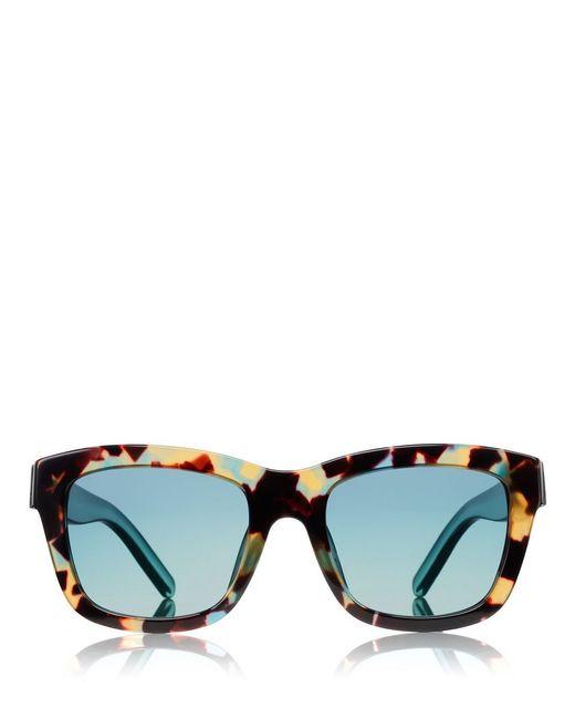 Tory Burch   Blue Fret-t Square Sunglasses   Lyst