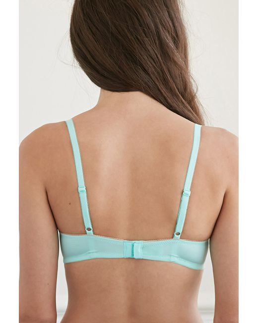 Forever 21 | Green Dotted Mesh Push-up Bra | Lyst