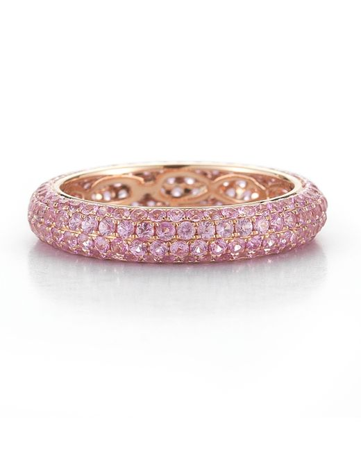 Dana Rebecca | Melissa Louise 14K Rose Gold And Pink Sapphire Ring | Lyst