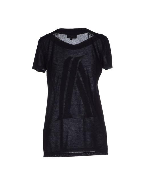 emporio armani t shirt in black lyst. Black Bedroom Furniture Sets. Home Design Ideas