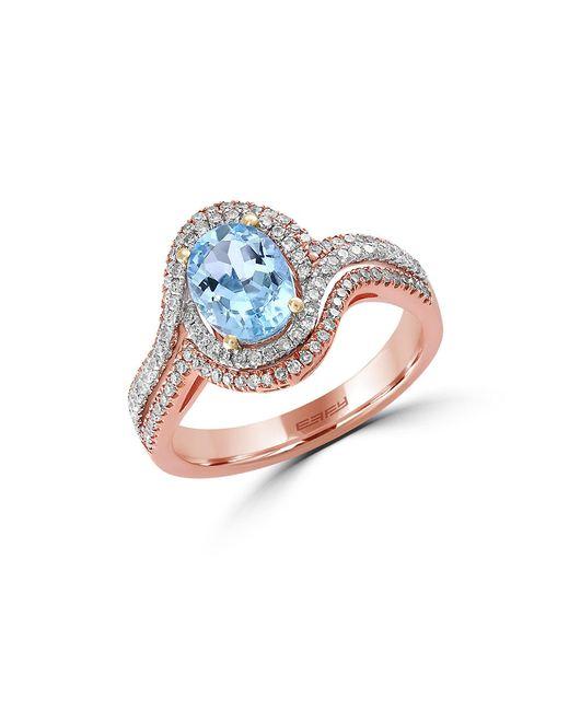 Effy | Metallic Aquarius Two-tone 14k Gold, Aquamarine And Diamond Ring, 0.41 Tcw | Lyst