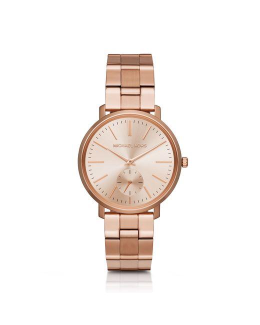 michael kors jaryn rose goldtone watch in gold for men