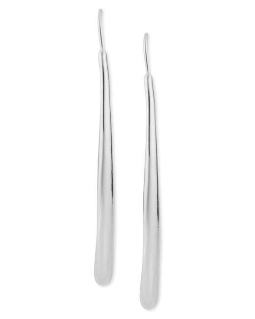 Robert Lee Morris | Metallic Silver-tone Long Teardrop Pull-thru Earrings | Lyst