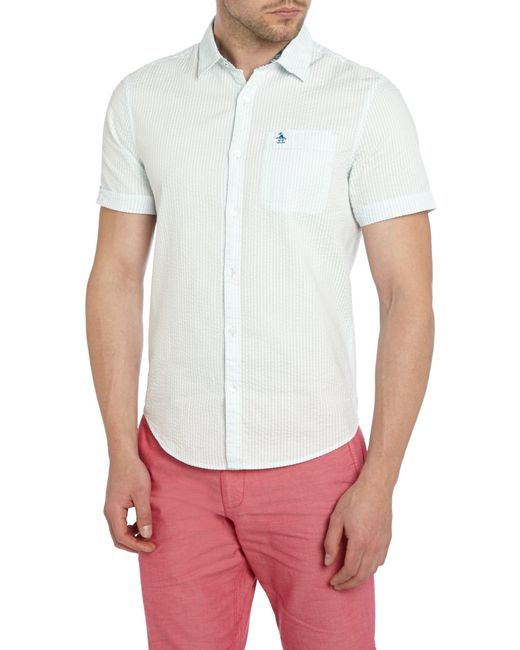Original Penguin | Purple Seersucker Sport Shirt for Men | Lyst