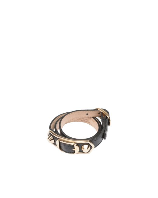 Balenciaga | Black Classic Metallic Edge Bracelet Triple Tour | Lyst