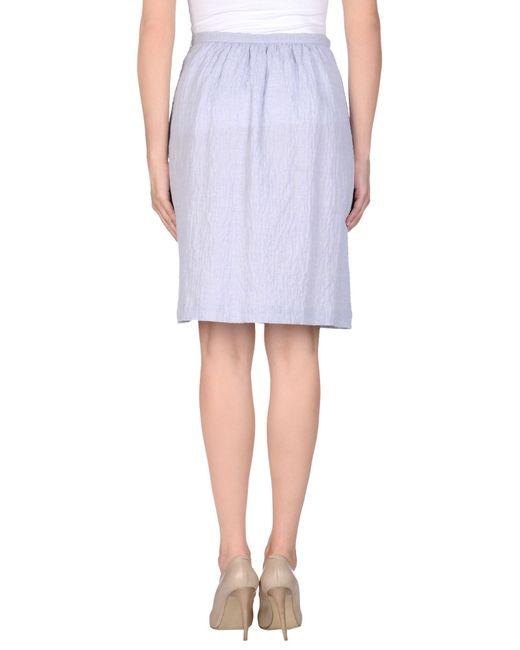 l autre chose knee length skirt in blue lyst
