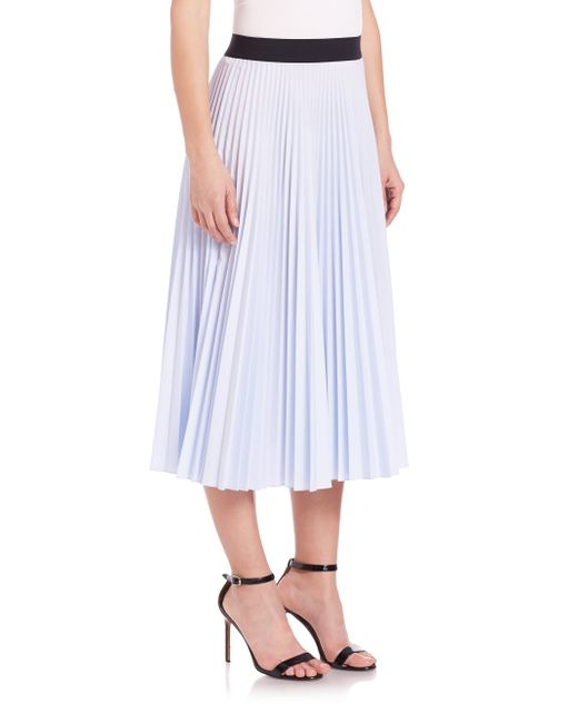 tome pleated skirt in blue light blue save 66 lyst