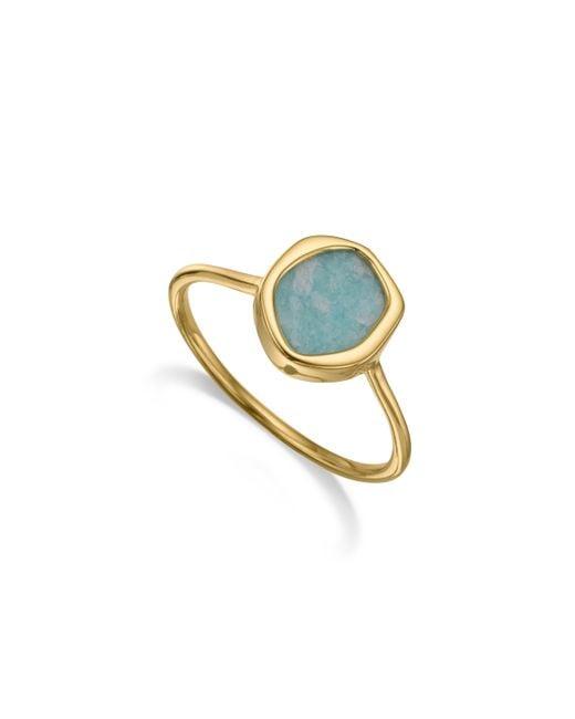 Monica Vinader | Blue Atlantis Gem Mini Stacking Ring | Lyst