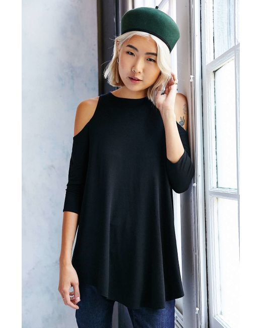 Kimchi Blue | Black Tyra Cold Shoulder Tunic Top | Lyst