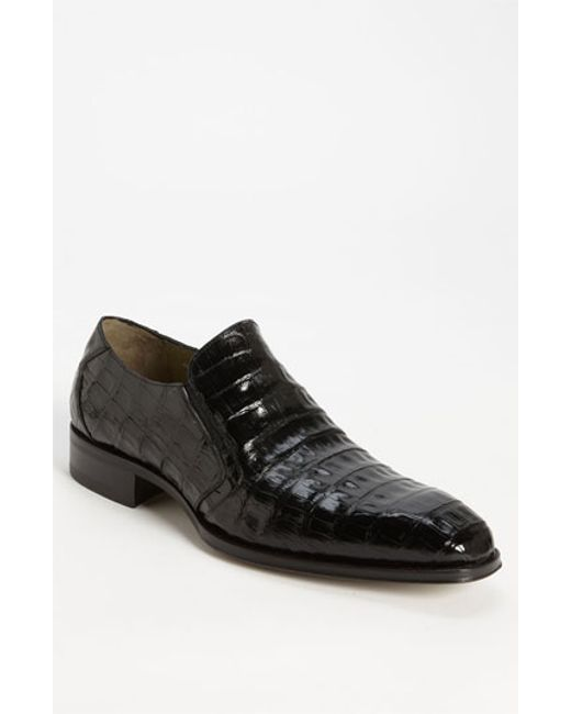 Mezlan | Black 'fiorello' Crocodile Loafer for Men | Lyst