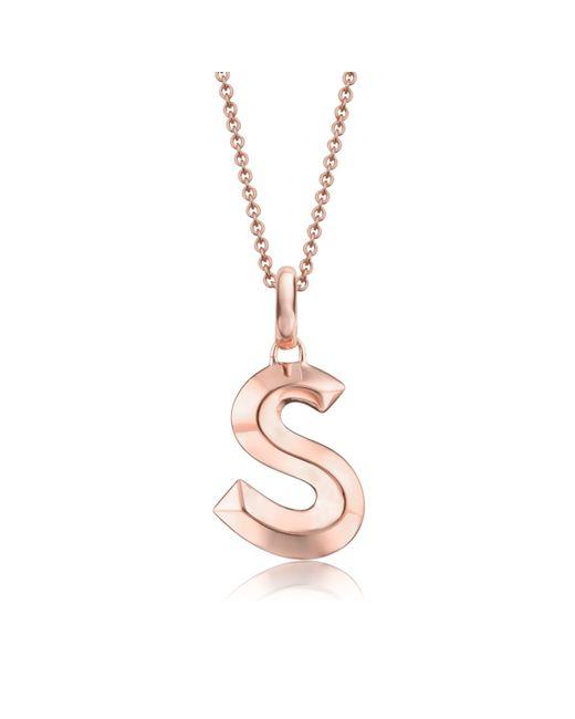Monica Vinader | Pink Alphabet Pendant S | Lyst