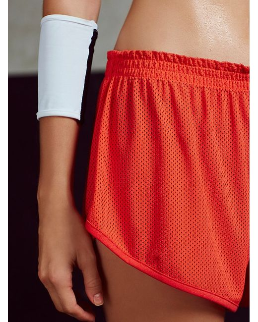Free People | Red Get Physical Short | Lyst