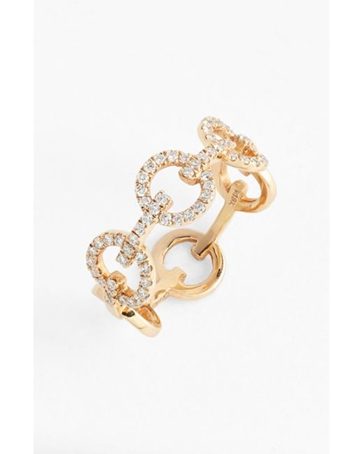 levy jewelry bony levy link band ring in gold gold lyst 6607