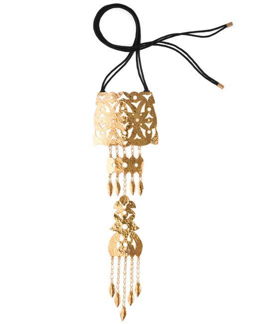 Natori | Metallic Hammered Gold Crown Necklace | Lyst