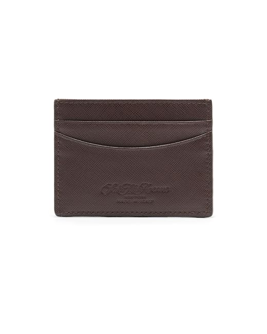 Saks Fifth Avenue | Brown Leather Card Case for Men | Lyst