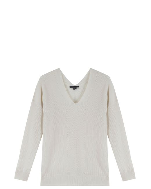 Vince Cashmere Knit Sweater in White Lyst