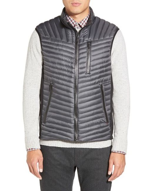 Tumi | Metallic 'on The Go' Quilted Down Vest for Men | Lyst