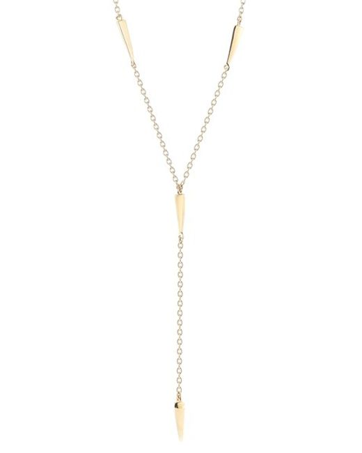 Elizabeth and James | Metallic 'miro' Y-necklace | Lyst