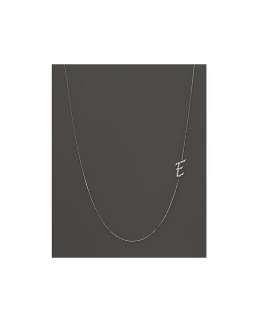 KC Designs | Diamond Side Initial E Necklace In 14k White Gold, .07 Ct. T.w. | Lyst