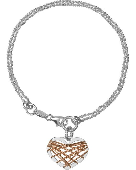 Links of London | Metallic Dream Catcher Heart Bracelet | Lyst