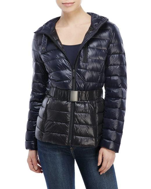 DKNY   Black Packable Short Down Jacket   Lyst