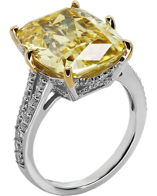 Carat*   Yellow Grand Emerald 8ct Cocktail Ring   Lyst