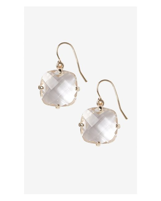 Express | Metallic Faceted Stone Dangle Earrings | Lyst