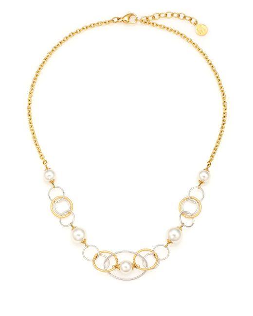 Majorica   Metallic Rain 8mm-10mm White Pearl Mixed Hoop Necklace   Lyst