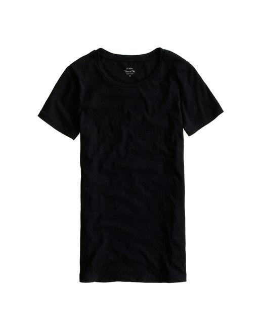 J.Crew | Black Tissue Turtleneck T-shirt | Lyst